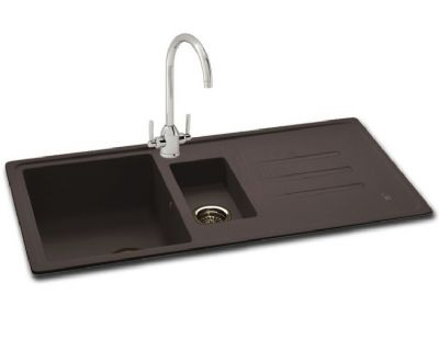 CARRON PHOENIX DEBUT 150 INSET JET BLACK GRANITE SINK, 150